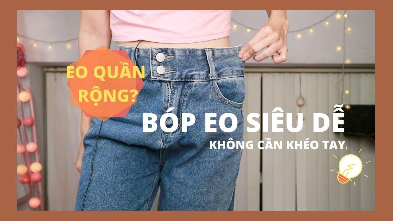 Mẹo bóp eo quần jeans siêu dễ ai cũng làm được | Góc DIY | WithAini