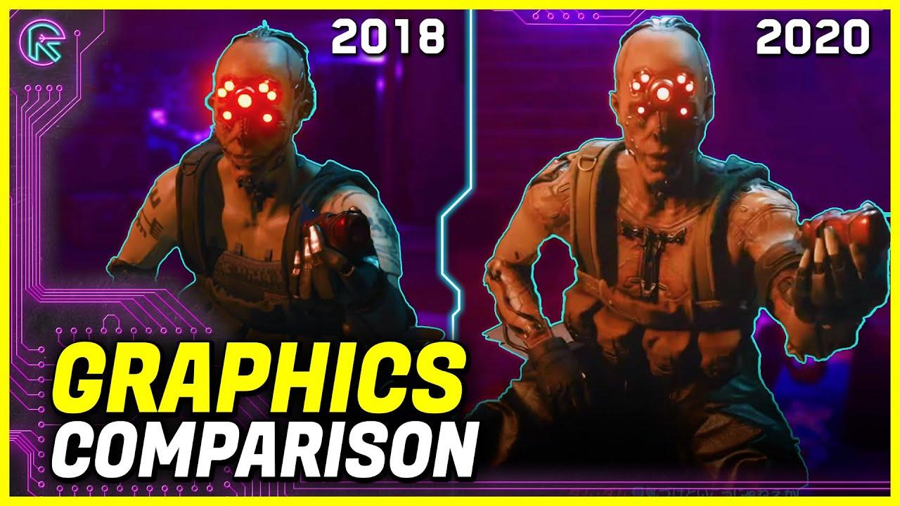 Cyberpunk 2077: Gameplay Graphics comparison 2018 vs 2020 (E3 vs TGS)