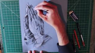 Praying Hands, Charcoal Masters Copy Process