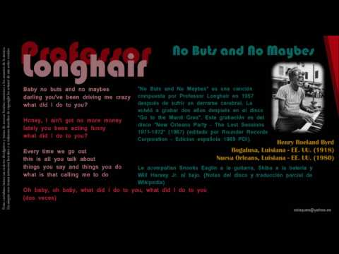 No Buts And No Maybes - Professor Longhair