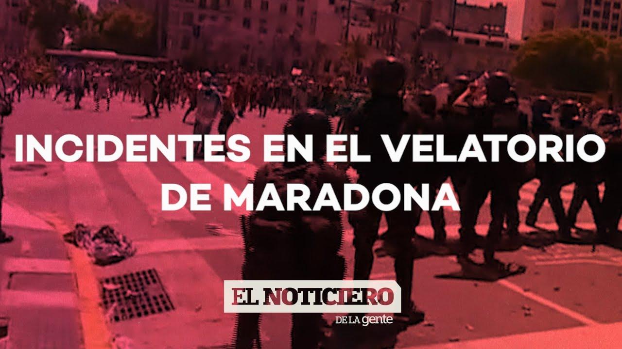 INCIDENTES en la fila por DIEGO MARADONA: desborde en Plaza de Mayo - El Noticiero de la Gente
