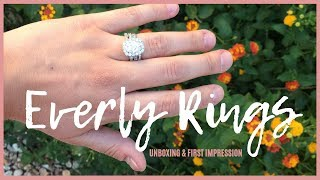 NEW AFFORDABLE WEDDING RINGS! | Everly Rings Unboxing & HONEST First Impression!