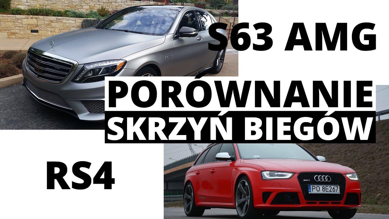 Audi RS4 vs Mercedes S63 AMG por³wnanie skrzyń bieg³w