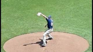 RHP Chris Young  pitching mechanics