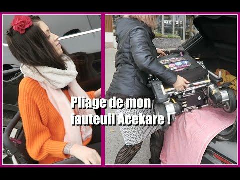 PLIAGE DE MON FAUTEUIL ROULANT ELECTRIQUE ♡