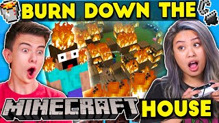 Burning Down Minecraft Houses (Teens Vs. College Kids)