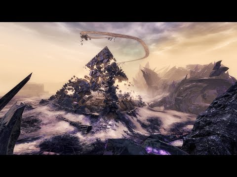 Purple Pyramid Jumping Puzzle MMO 4K Game play