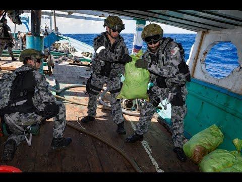 HMAS Arunta Drug Interdiction