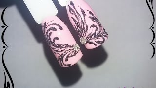 Вензеля  _ Дизайн ногтей гель лаком nail design Shellac