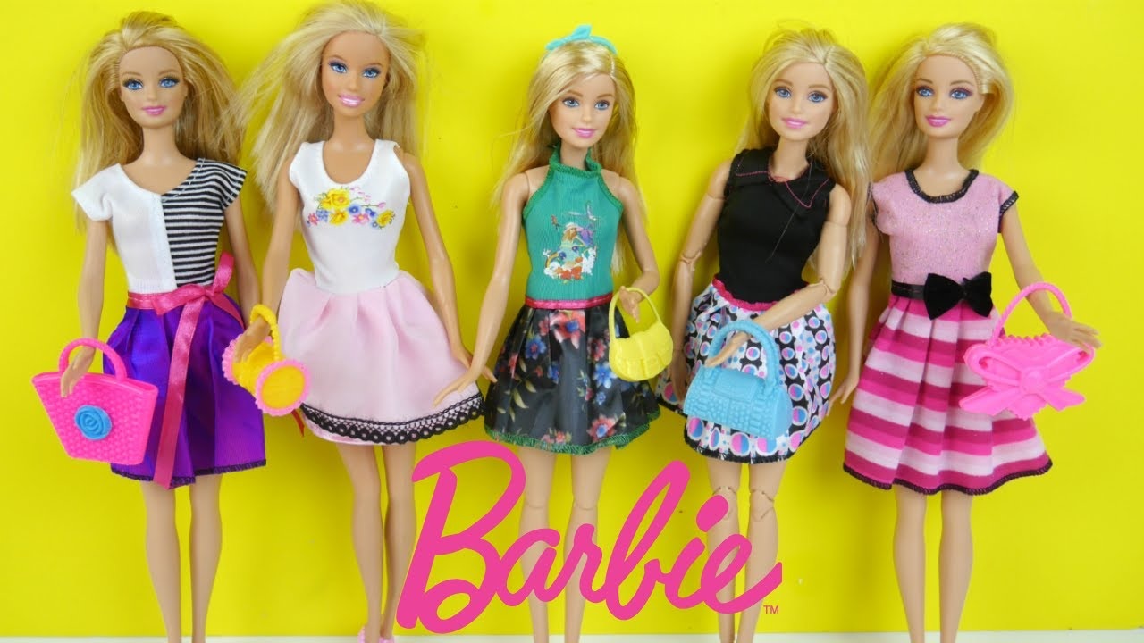 86621b3ad فساتين باربي ألعاب تلبيس بنات 25 اكسسوار - Barbie dolls Dress Up & Clothes