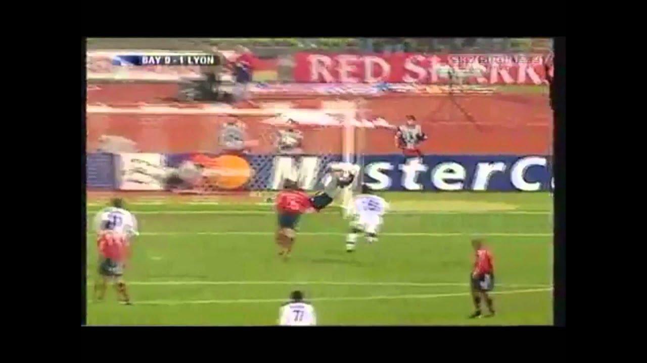 juninho free kick vs bayern kahn post headbutt youtube