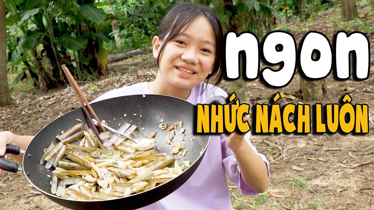 Ăn Nguyên Chảo Ốc Móng Tay Xào Sả Ớt Ngon Nhức Nách – Khánh Vân Vlog