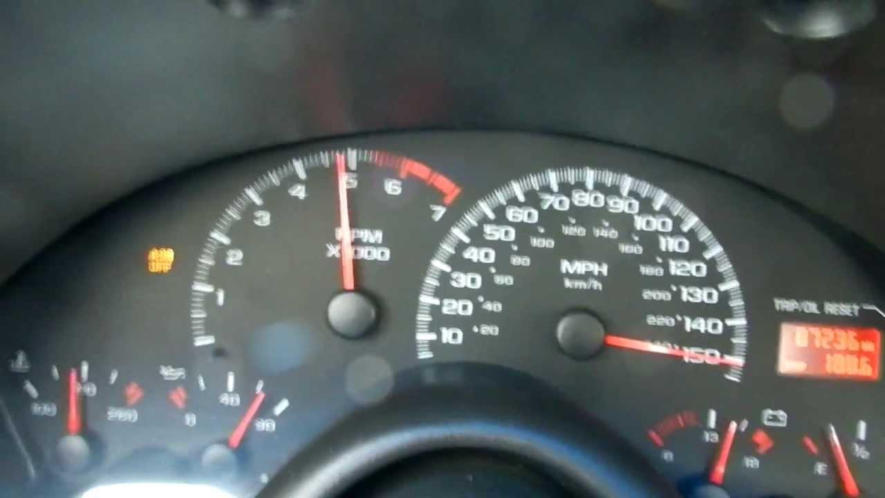 Burying The Speedometer In 2001 Z28 YouTube