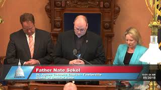 Sen. Joe Hune welcomes local pastor to Senate