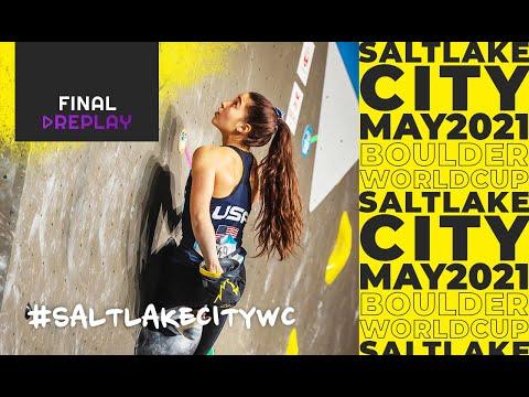 IFSC Boulder World Cup Salt Lake City 2021    Men's and women's Boulder finals 22 May