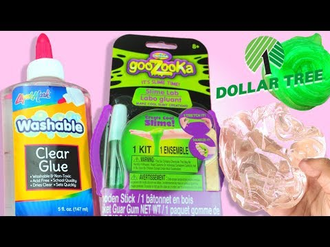$1 NEW DOLLAR TREE SLIME KIT AND CLEAR GLUE !!! // TESTING OUT NEW  DOLLAR TREE SLIME KIT !!!