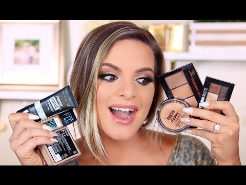 FULL FACE USING ONLY MAYBELLINE MAKEUP! | Casey Holmes