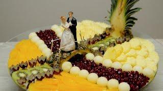 SLICED FRESH FRUIT FOR WEDDING | J Pereira Art Carving