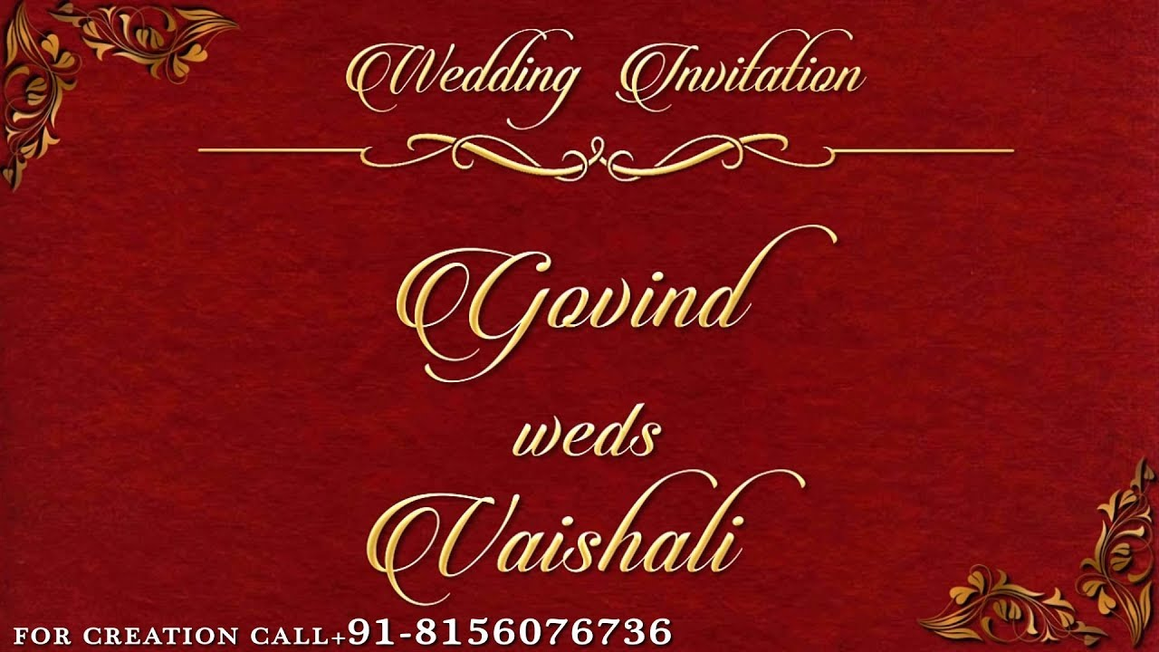 Simple Digital Wedding Invitation in Rs.700 only by ...