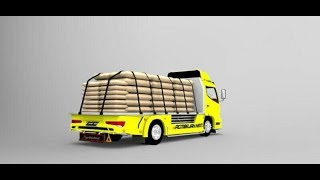 BUSSID - Mod Truck Canter v2 Muatan Semen by BMI