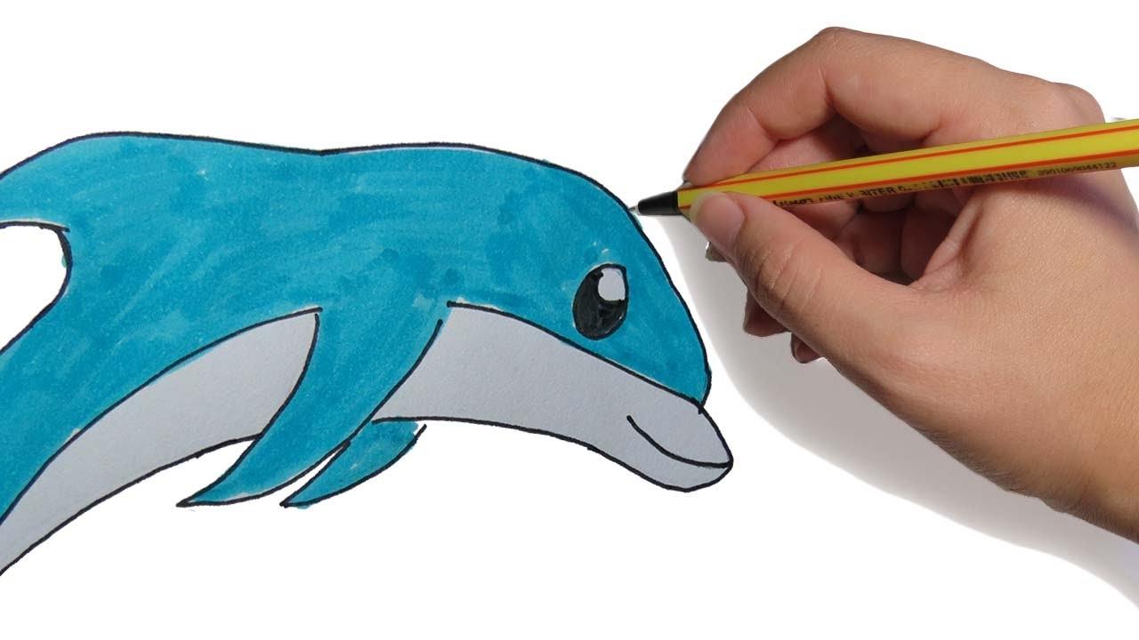 Dibujos De Animales Faciles Delfin Saltando Paso A Paso Facil A