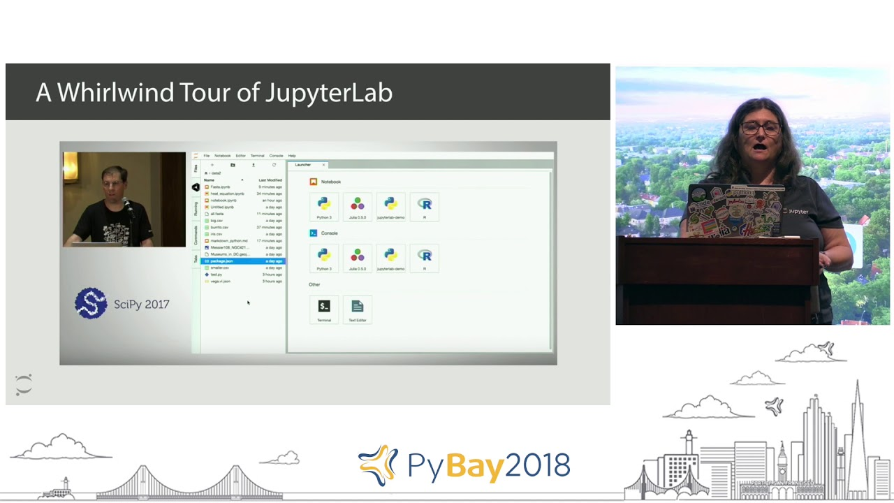 Image from JupyterLab and JupyterHub - Perfect Together | Carol Willing @ PyBay2018