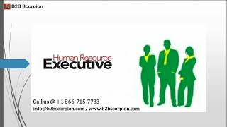 Top HR Executives Email List provider