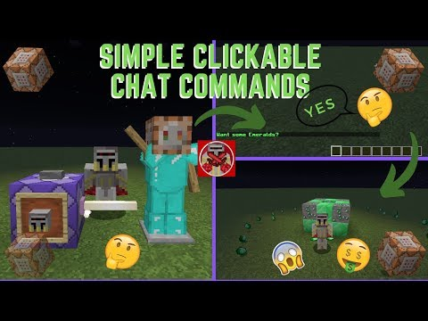 Command Block Tutorial #38: Simple Clickable Chat Commands In Minecraft (1.14+)