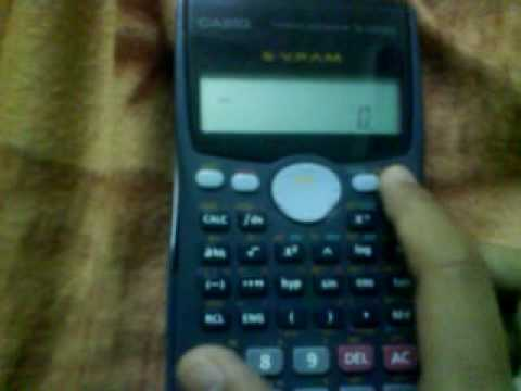 Calculator trick (casio 570ms)must try-to save your data