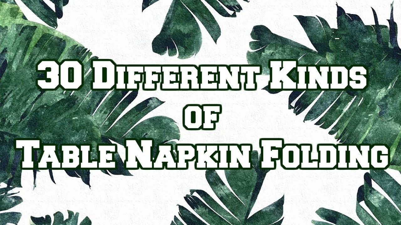 30 Table Napkin Folding Icnhs Shs