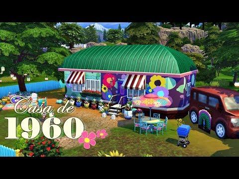 Casa de 1960 (Hippie House) │The Sims 4 (Speed Build)
