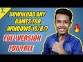 [HINDI]How to Download Free Full Version Games on Windows 10/8/7 !