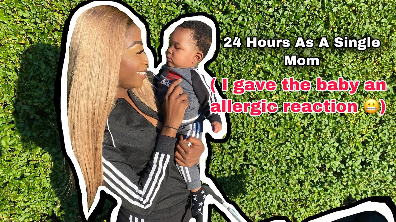 24 HOURS AS A SINGLE MOM ( I ACCIDENTALLY GAVE THE BABY AN ALLERGIC REACTION😬) | REIGNDOLL TV