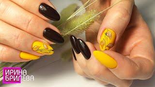 Красивенный Осенний маникюр Осенние листья на ногтях