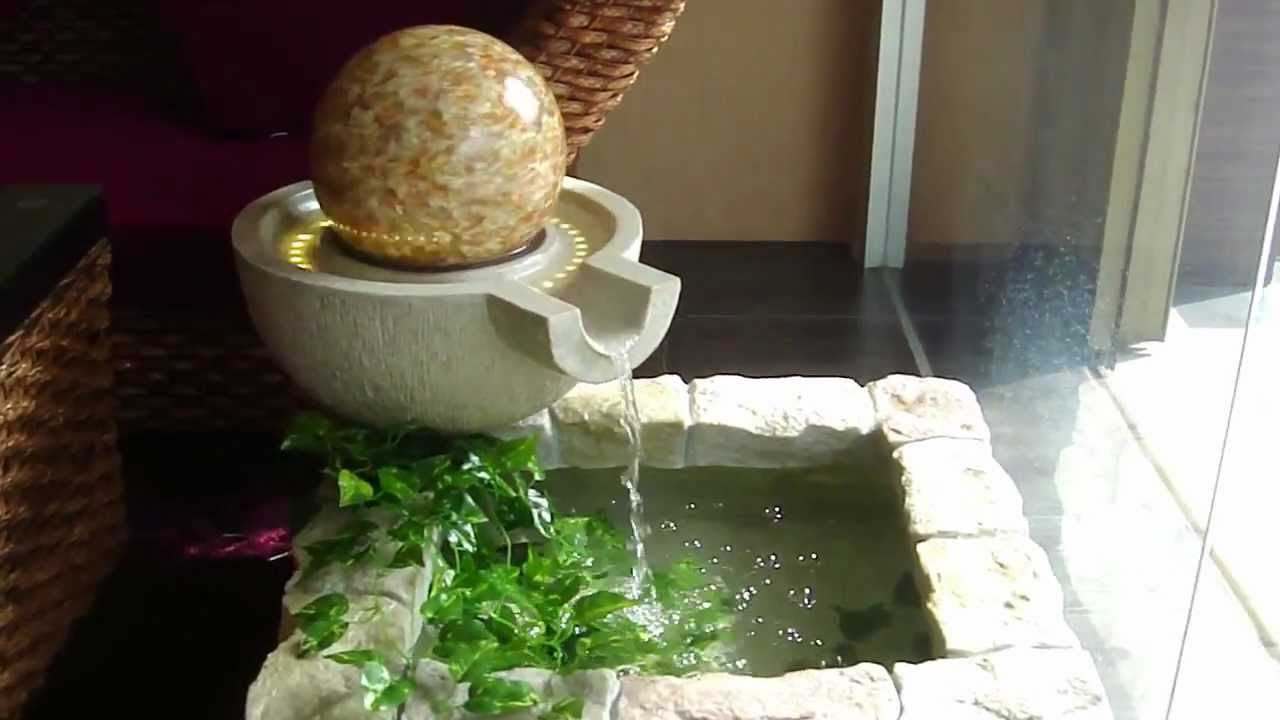 Fish Pond Faux Stonework Floating Globe Water Fountain