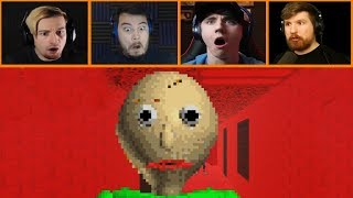 Let's Players Reaction To Getting Out While They Still Can   Baldi's Basics