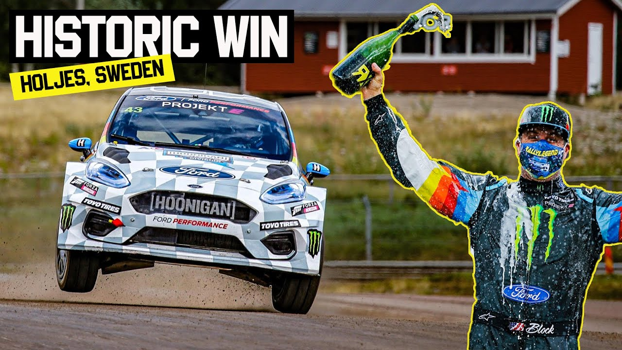 Ken Block Wins First Ever All Electric World Rallycross Race - Projekt E!