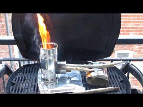 Burn Test Of The Hybrid Pocket Rocket Wood Gas Stove Youtube