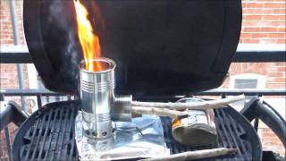 Burn Test of the Hybrid Pocket Rocket Wood Gas Stove