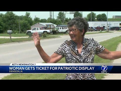 Woman gets ticket for patriotic display