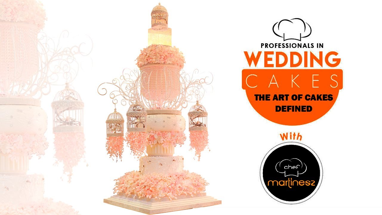BIRDCAGE WEDDING CAKE STRUCTURE BY CHEF MARTINESZ - YouTube
