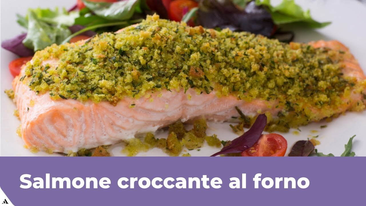 Ricetta Salmone Giallo Zafferano.Salmone Croccante Al Forno Facile E Veloce Youtube