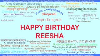 Reesha   Languages Idiomas - Happy Birthday