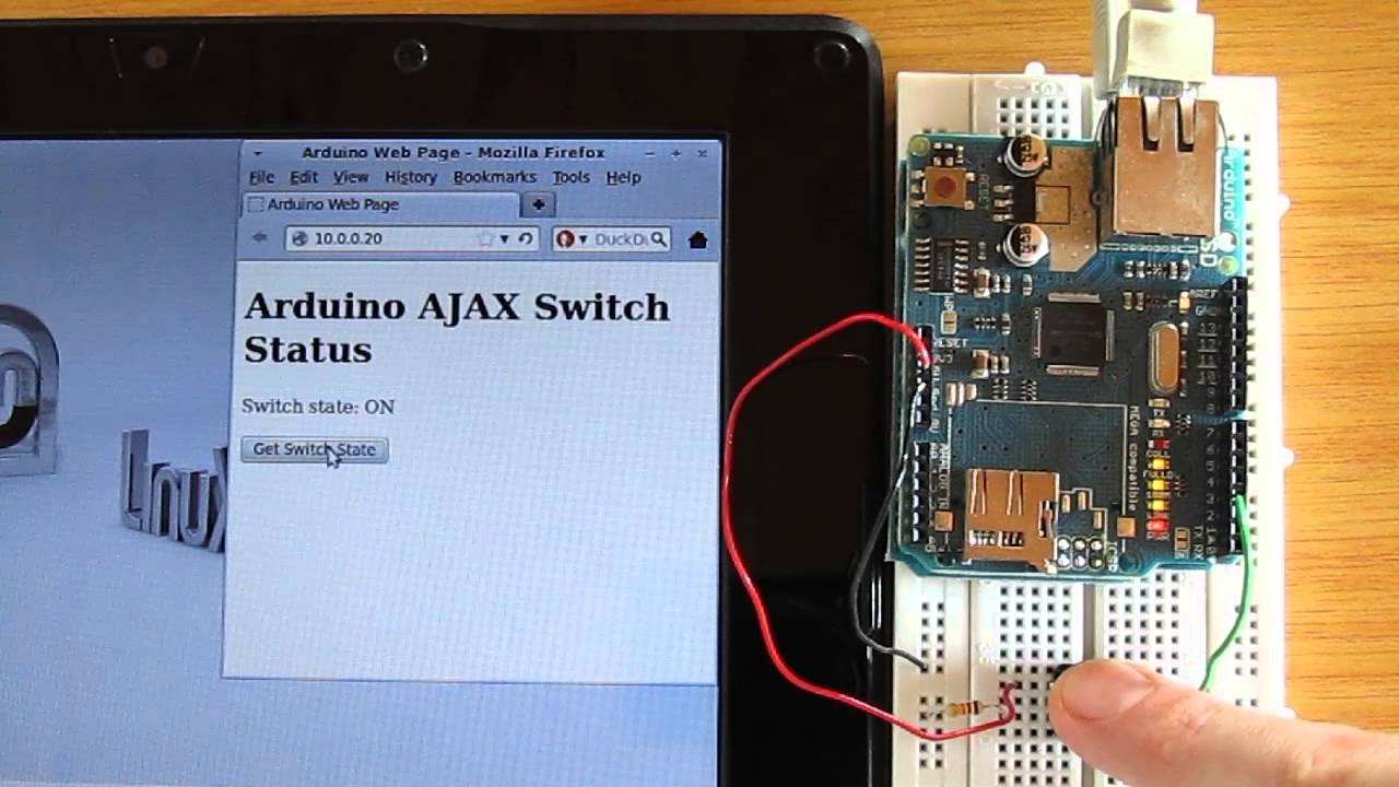 Using Ajax To Read Switch With Arduino Ethernet Shield Manual Sd Card Circuit Youtube