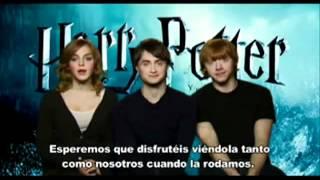 Dan Radcliffe Emma watson Rupert Grint hablando español
