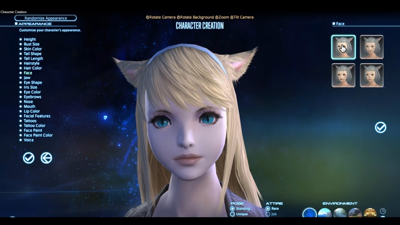 Final Fantasy 14 Character Creation with Chardata
