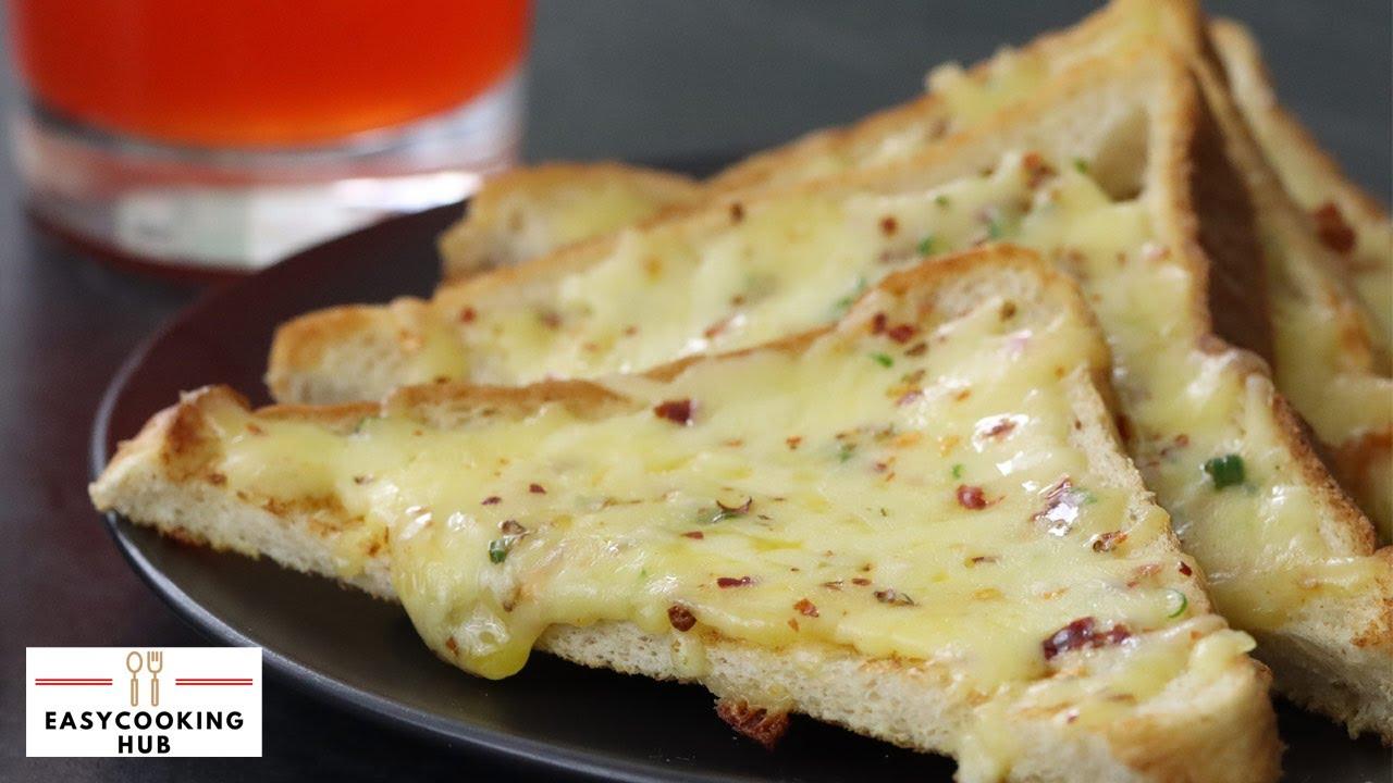 Cheese Chilli Toast recipe   5 Min snack recipe   Easy ...