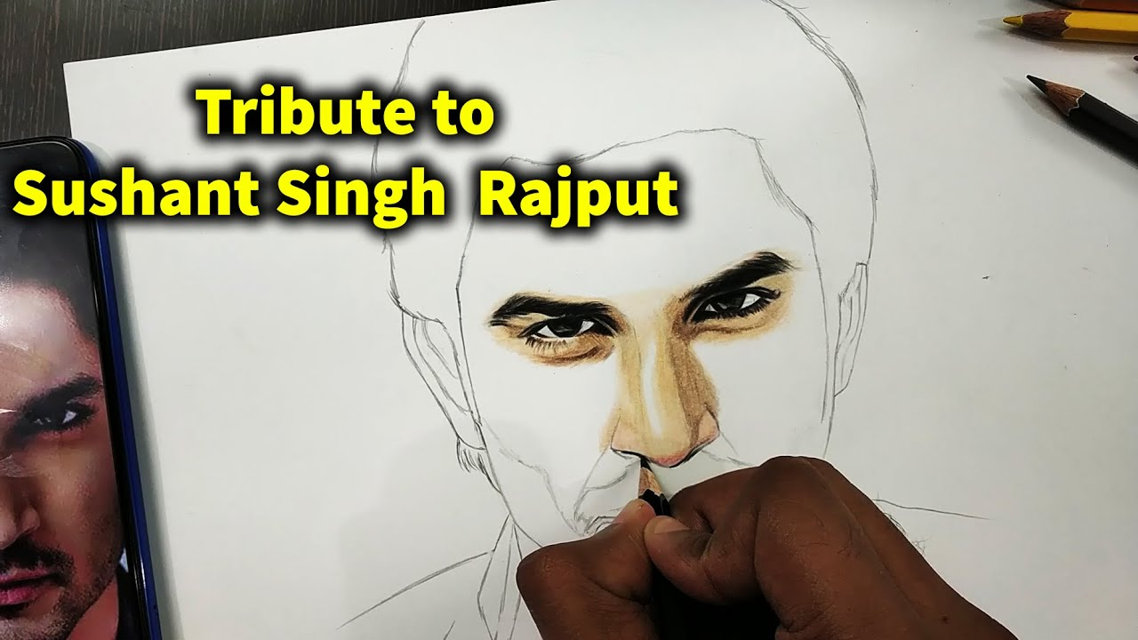 Tribute to Sushant Singh Rajput || Khairiyat Song || Sketch with DOMS Colour Pencils