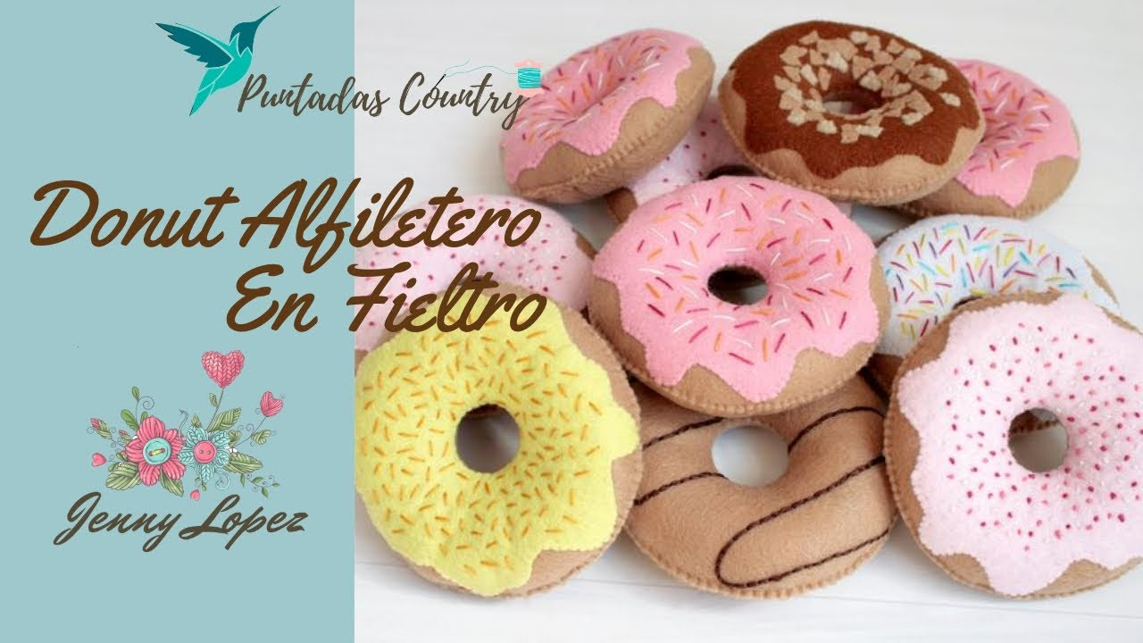 Manualidades f ciles donut en fieltro youtube for Manualidades faciles decoracion