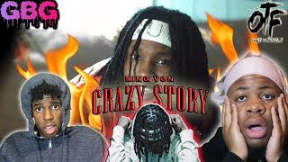"""THIS A CRAZY STORY!! King Von """"Crazy Story"""" (REACTION)"""